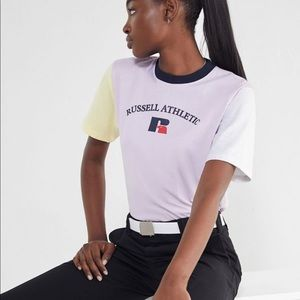 urban outfitters alexandra colorblock tee